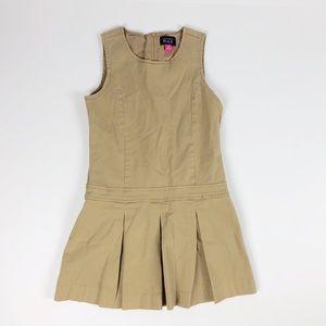 Children's Place Uniform Dress 10  Khaki Jumper